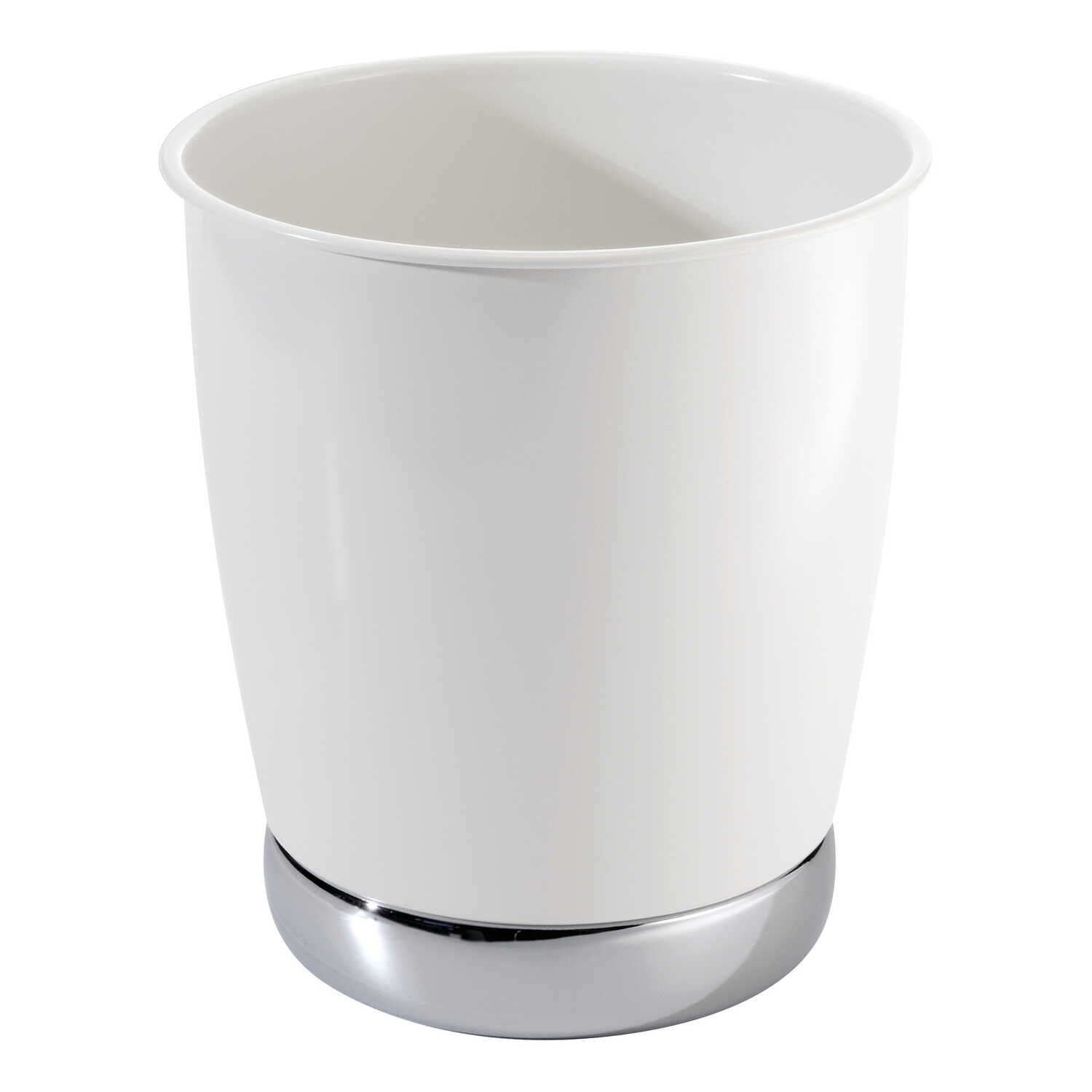 InterDesign  York  White  Classic American  Wastebasket
