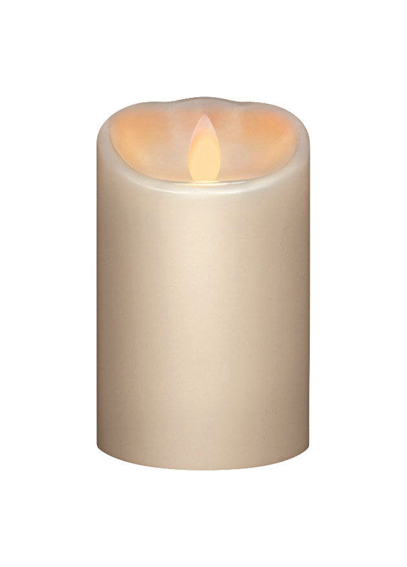 Iflicker  Butter Cream  Candle  5 in. H