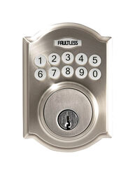 Faultless Satin Nickel Metal Electronic Deadbolt