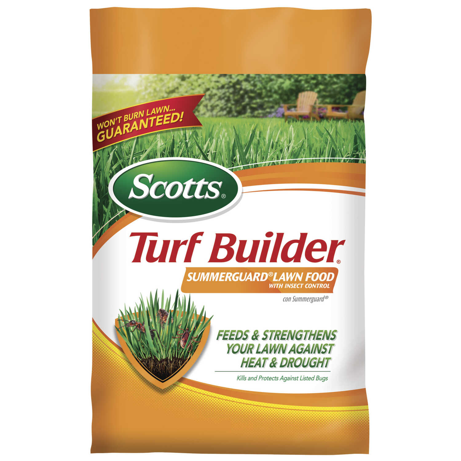 Scotts  Turf Builder Summerguard  20-0-8  Lawn Fertilizer  For All Grass Types