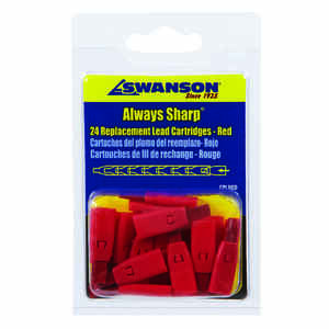 Swanson  Always Sharp  3 in. W x 4.8 in. L Mechanical Carpenter Pencil Replacement Tips  Red  Clay
