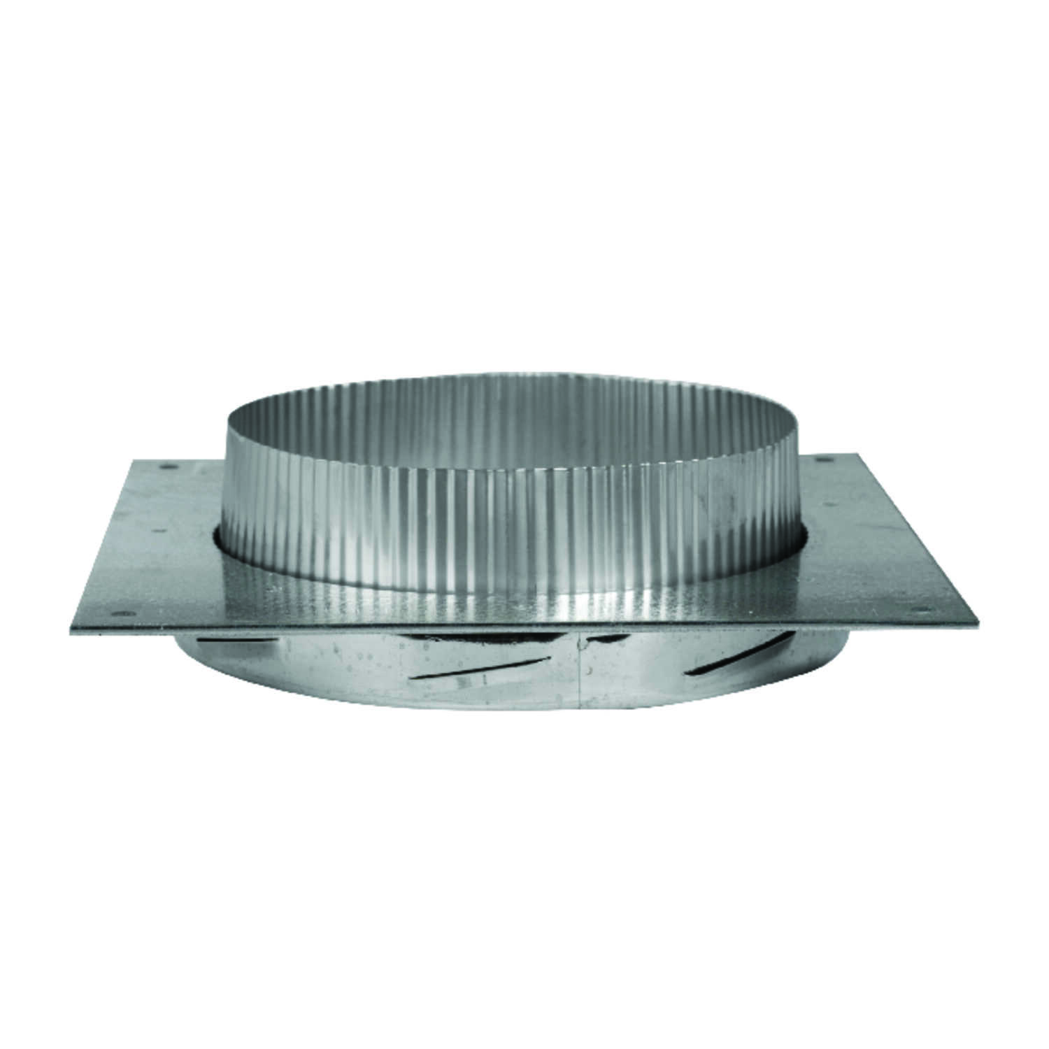 Selkirk  8 in. Dia. 28 Ga. Stainless Steel  Anchor Plate