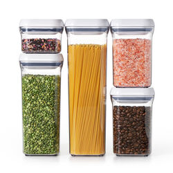OXO  Good Grips  Pop Container Set  5 pk Clear