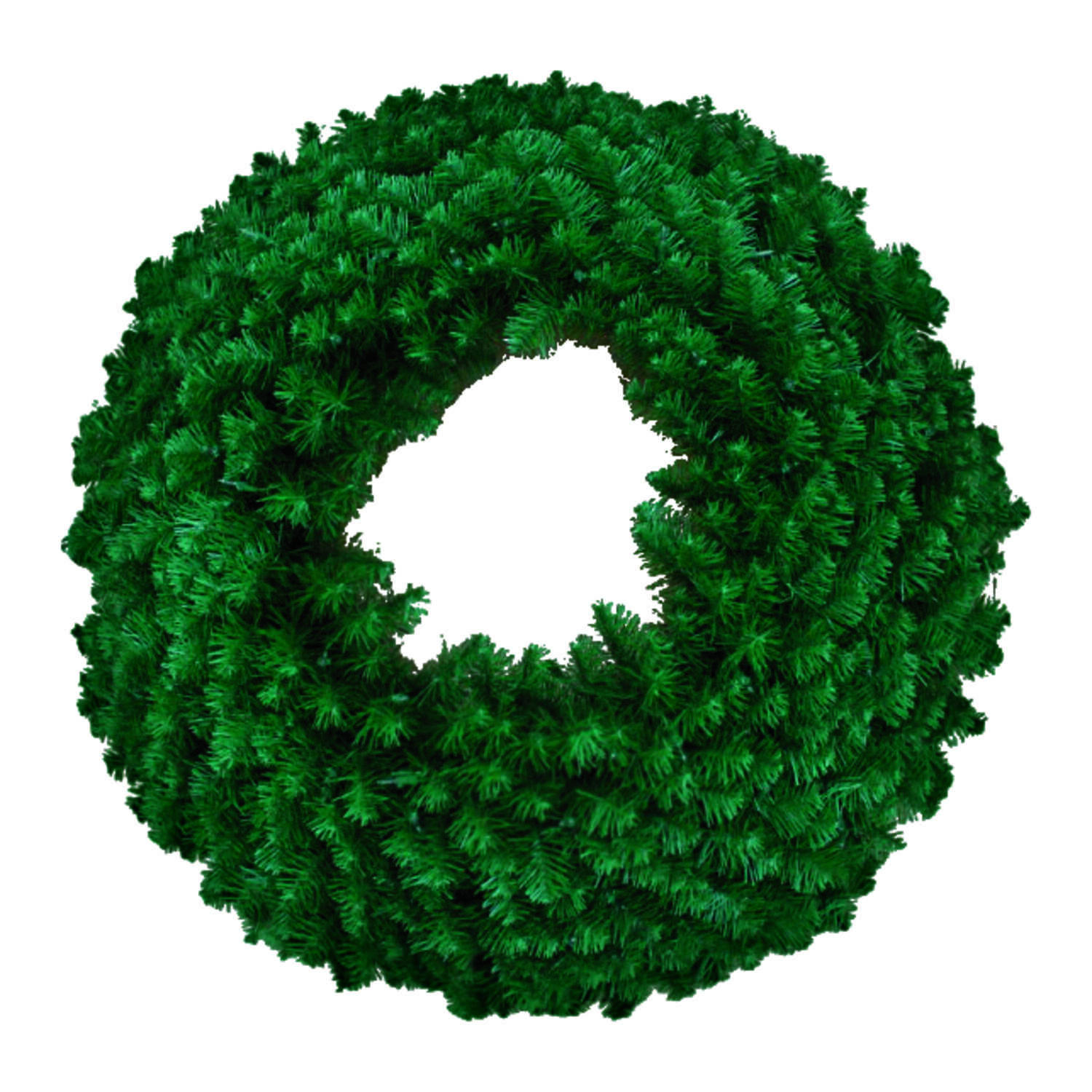 J & J Seasonal  Green  Masterpiece Wreath  72 in. Dia.