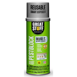 Great Stuff Smart Dispenser Pestblock Gray Polyurethane Foam Insulating Insulating Sealant 12
