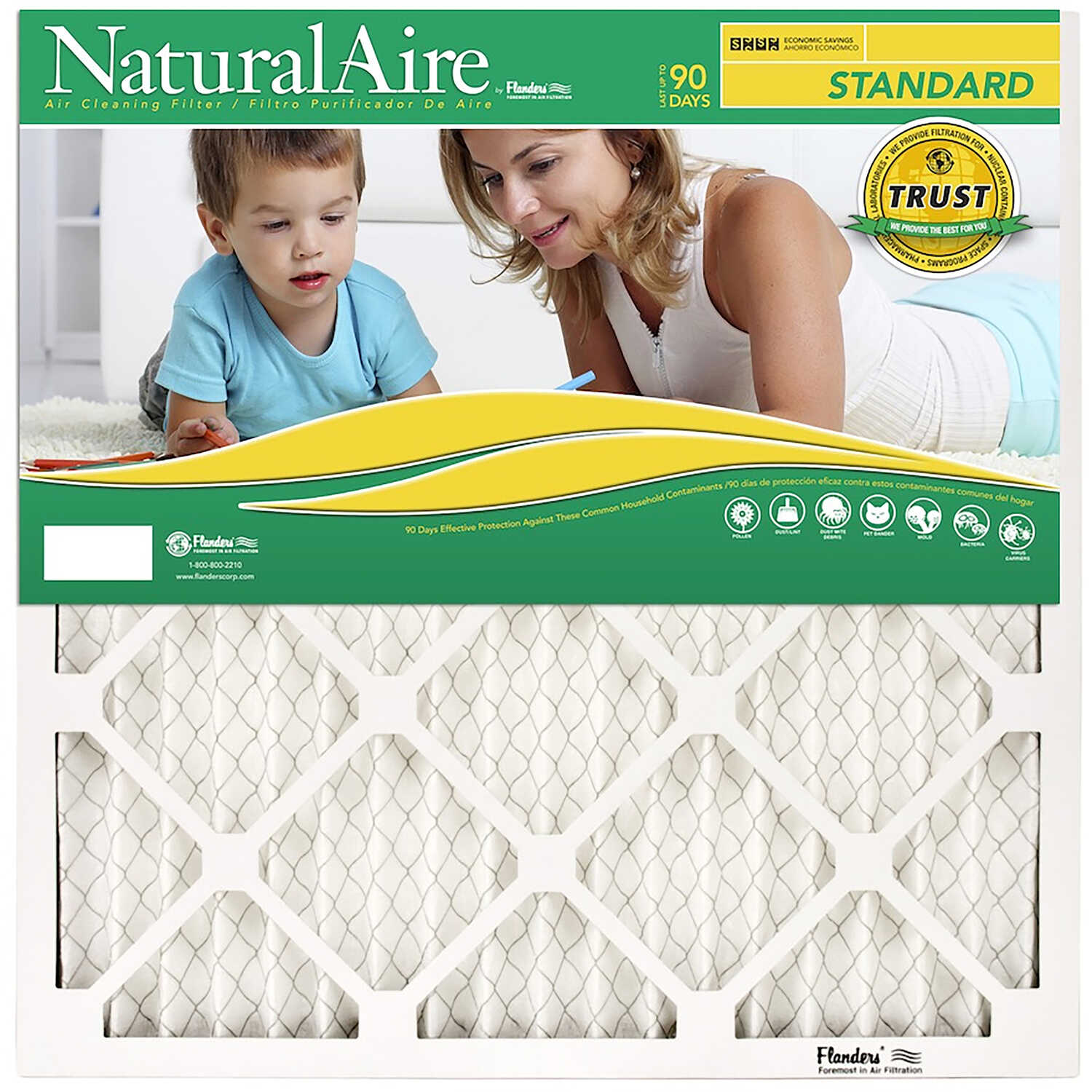 AAF Flanders  36 in. H x 24 in. W x 1 in. D Pleated  Air Filter