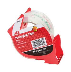 Ace  54.6 yd. L x 1-7/8 in. W Clear  Packaging Tape