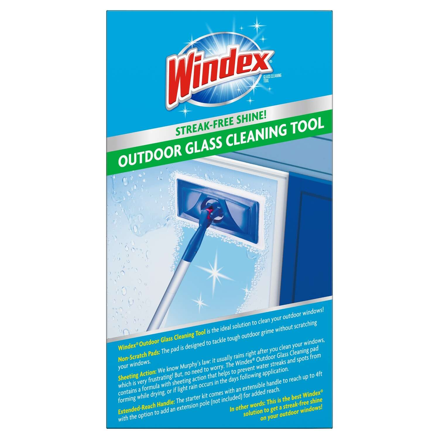 Windex Outdoor All-In-One No Scent Glass Cleaner Starter Kit 1 pk ...