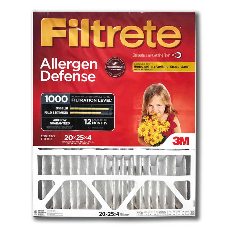 3M  Filtrete  16 in. H x 25 in. W x 4 in. D Air Filter
