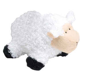 Diggers  Multicolored  Sheep  Plush  Dog Toy  Large