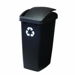 Rubbermaid  12.5 gal. Black  Recycler  Wastebasket