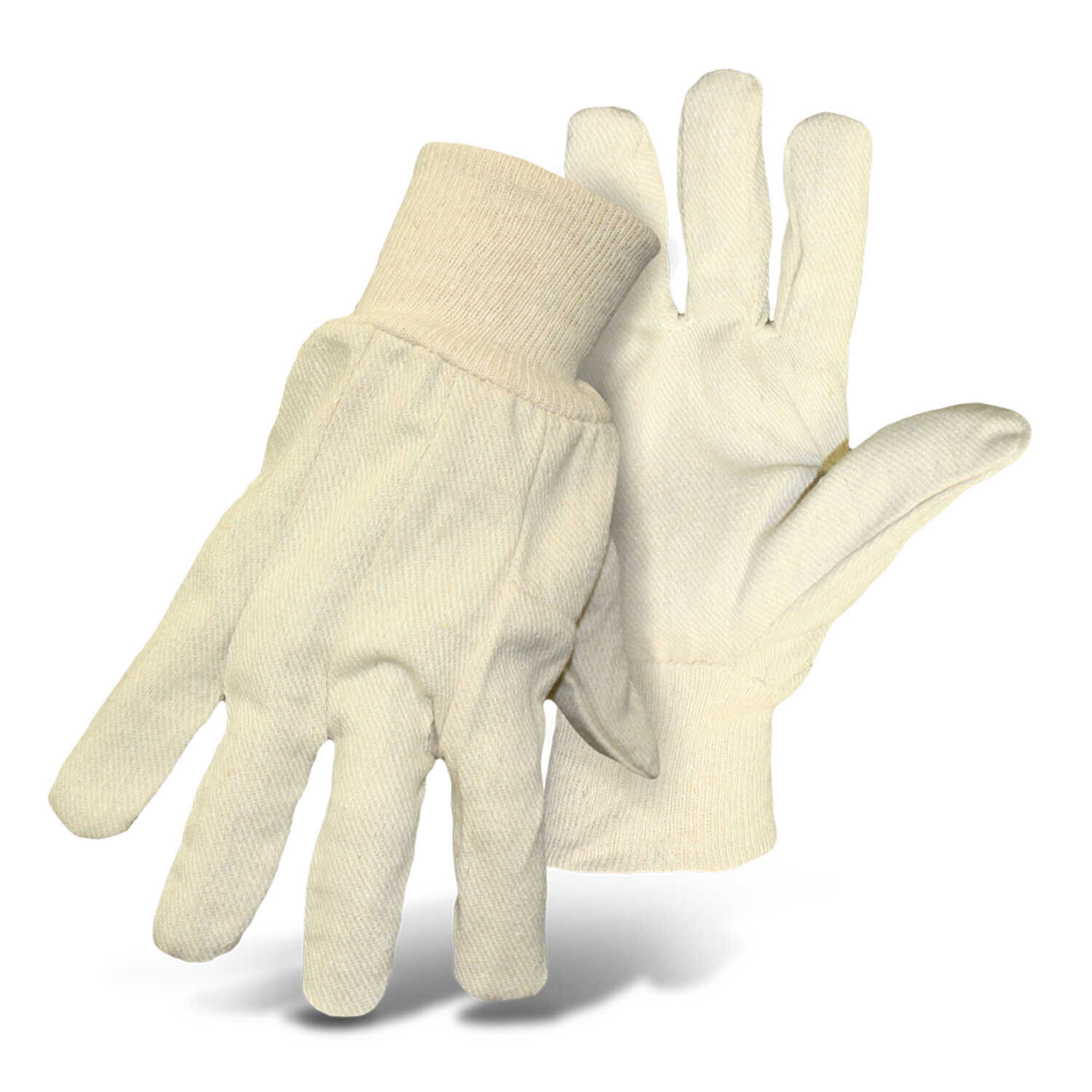 Boss  Men's  Indoor/Outdoor  Cotton  Clute Cut  Work Gloves  White  L