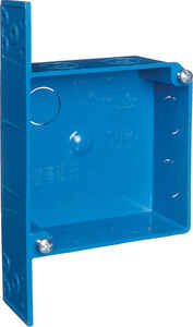 Carlon  4 in. Square  2 Gang  Outlet Box  Blue  PVC
