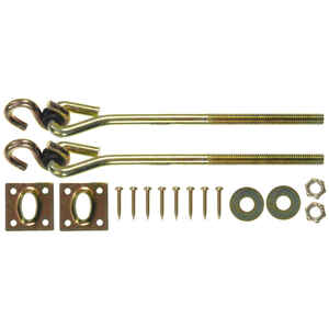 Ace  Small  Zinc-Plated  Gold  Steel  7.75 in. L Swing Hook Kit  225 lb. 2 pk