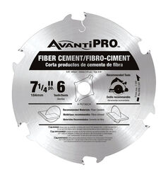 Freud  Avanti Pro  7-1/4 in. Dia. x 5/8 in.  Carbide Tipped  Fiber Cement Blades  6 teeth 1 pk