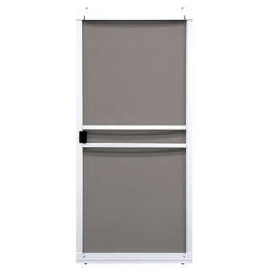 Precision  Branson Series  80-3/4 in. H x 36 in. W Branson  White  Steel  Adjustable Sliding Screen