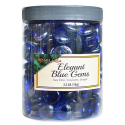 Mosser Lee  Elegant Blue Gems  Blue  Decorative Glass  Vase Filler  2.2 lb.