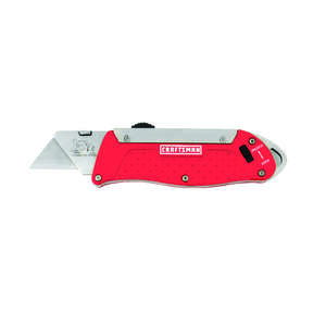 Craftsman  6 in. Sliding  Utility Knife  Red  1 pk