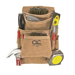 CLC  3 in. W x 11.5 in. H Suede  Nail and Tool Pocket Apron  10 pocket Tan  1 pc.