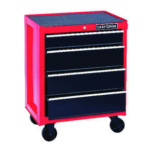 Craftsman  26-1/2 in. 18 in. D x 34 in. H Steel  4 drawer Red/Black  Rolling Tool Cabinet