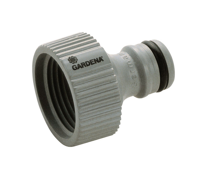 Gardena 5//8in Plastic Hose End Repair Connector with Water Stop Male Threaded