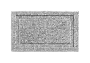 InterDesign  34 in. L x 21 in. W Gray  Microfiber Polyester  Bath Spa Rug