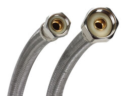Fluidmaster 3/8 in. Compression x 1/2 in. Dia. FIP 16 in. Braided Stainless Steel Supply Line