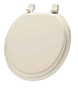 Mayfair  Round  Bone  Molded Wood  Toilet Seat