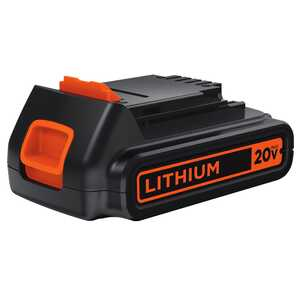 Black and Decker  20V MAX  20 volt 1.5 Ah Lithium-Ion  Battery  1 pc.