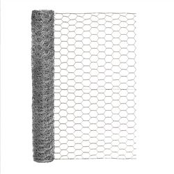 Garden Craft  24 in. H x 25 ft. L 20 Ga. Silver  Poultry Netting