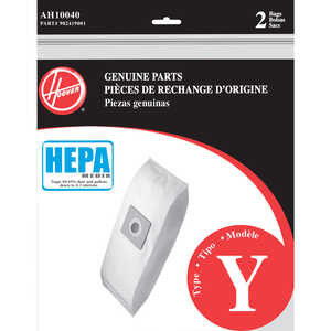 Hoover Windtunnel Vacuum Bag HEPA Type Y Fits all Hoover upright cleaners and all Windtunnel Bagged