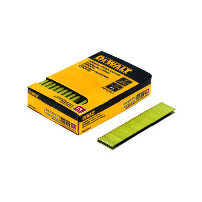 DeWalt  1/4 in. W x 1 in. L 18 Ga. Narrow Crown  Finish Staples  2500 pk