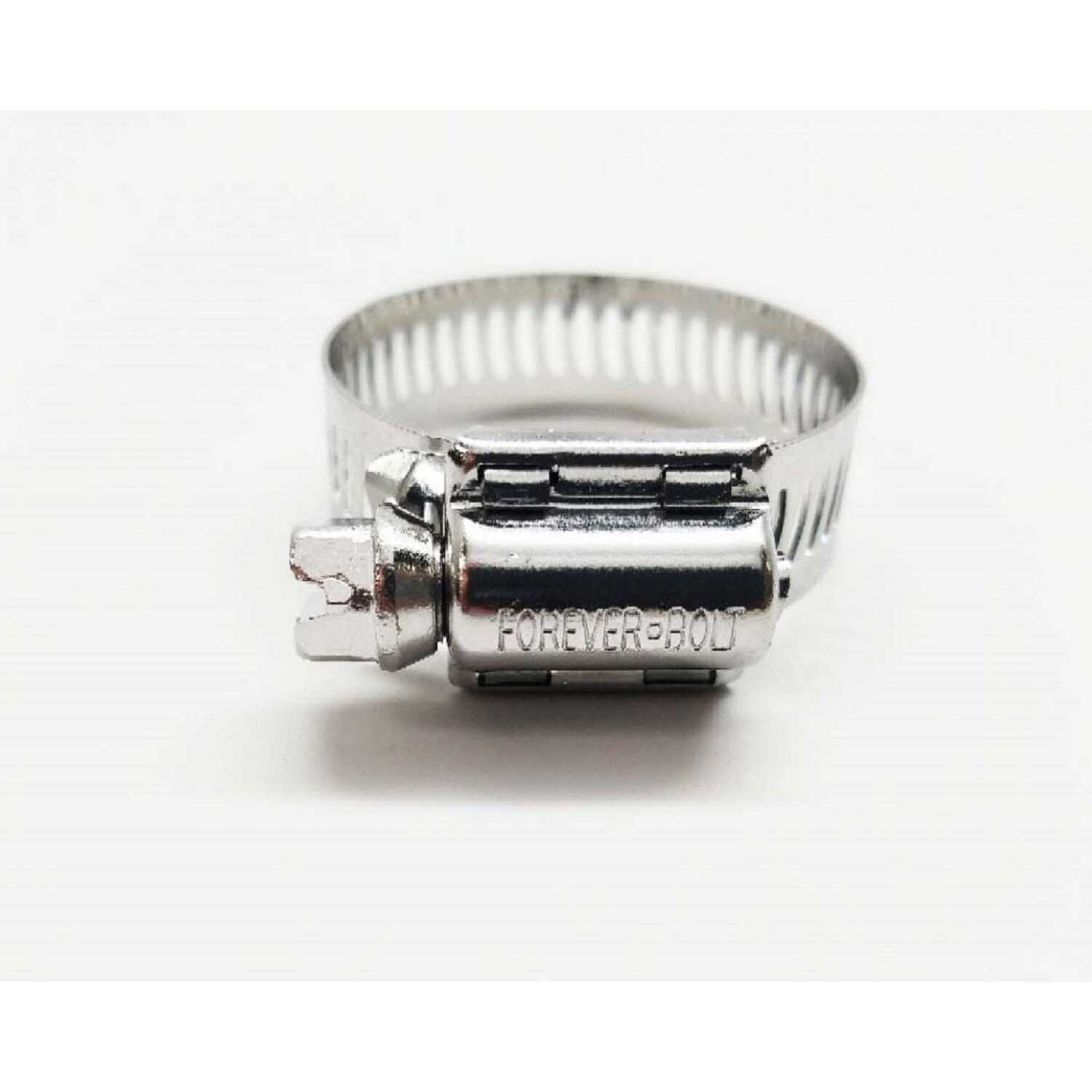 FOREVER BOLT  13/16 in. to 1-1/2 in. Stainless Steel  Band  Hose Clamp