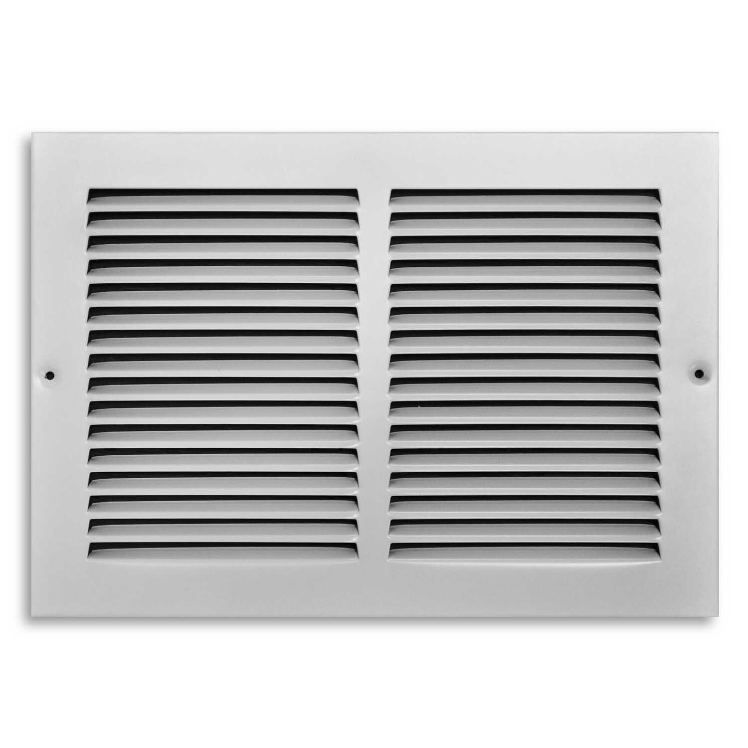 Tru Aire  8 in. H x 1/4 in. D 1-Way  Steel  Return Air Grille  Powder Coat  White