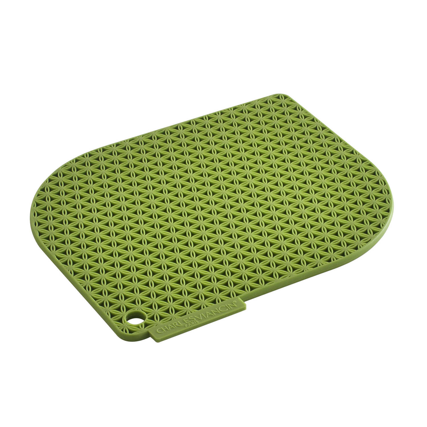 Charles Viancin  Honeycomb  Bamboo Green  Silicone  Pot Holder  1 pk