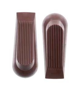 Ace  6.018 in. H x 5 in. W Rubber  Brown  Wedge Door Stop  Mounts to floor