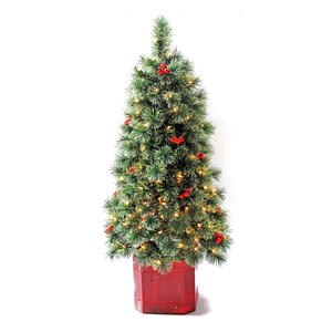 Greenfields  Clear  Prelit 4-1/2 ft. Arcadia  Artificial Porch Tree  150 lights 216 tips