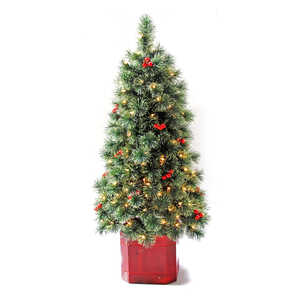 Greenfields  Clear  Prelit Arcadia  Artificial Porch Tree  150 lights 216 tips 4-1/2 ft.