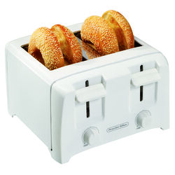 Proctor Silex  Plastic  White  4 slot Toaster  7.38 in. H x 11.13 in. W x 10.5 in. D