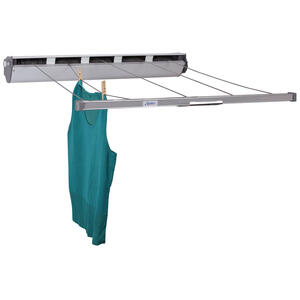 Household Essentials  6.5  L Silver  Polyester  Retractable Clothesline