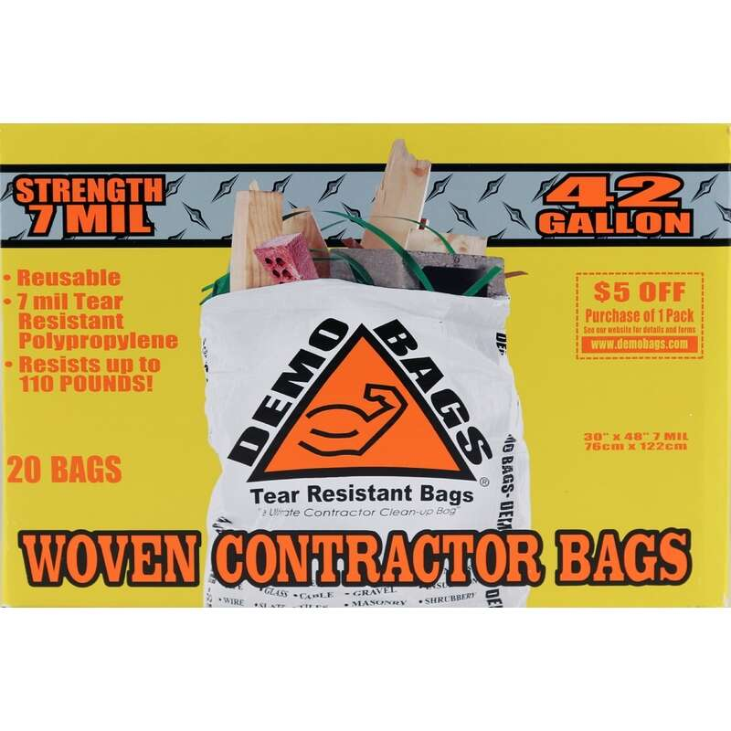 Demo Bags  Ultimate Pro Pack  42 gal. Contractor Bags  Flap Tie  20 pk No