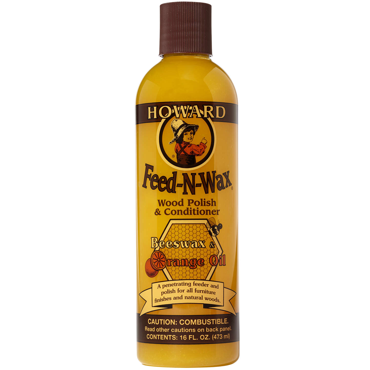Howard  Feed-N-Wax  Orange Scent Wood Protector  16 oz. Gel