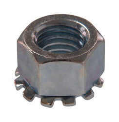 Hillman  6 in. Zinc-Plated  Steel  SAE  Keps Lock Nut  100 pk