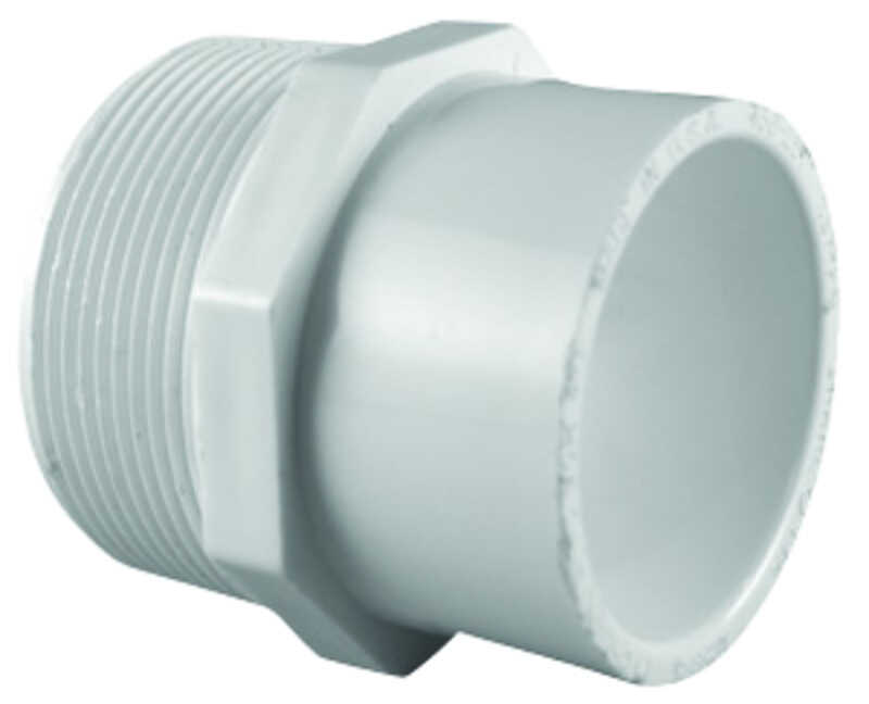 Charlotte Pipe  Schedule 40  3/4 in. MPT   x 1 in. Dia. Slip  PVC  Pipe Adapter