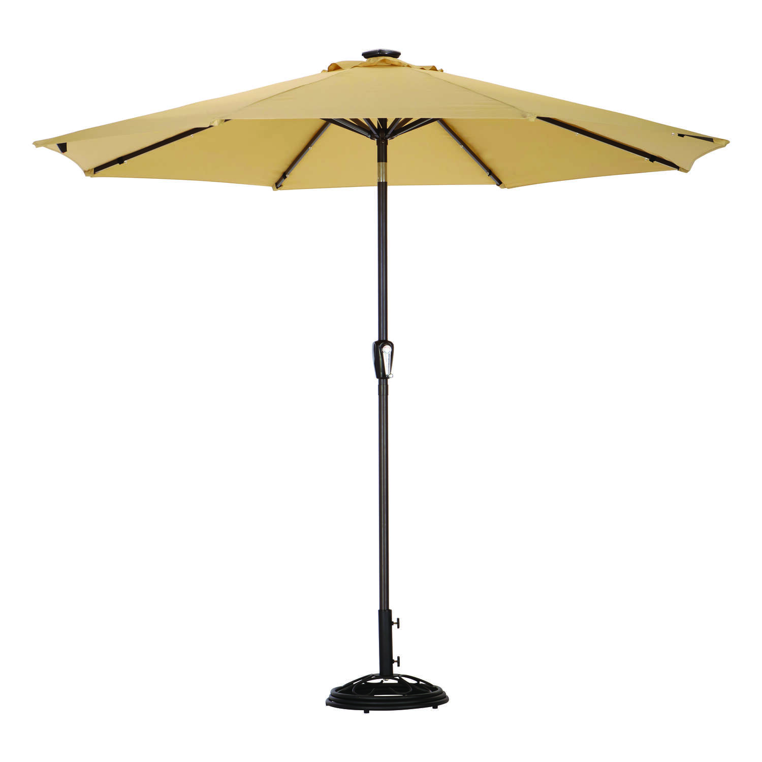 Living Accents  MARKET  9 ft. Tiltable Taupe  Patio Umbrella