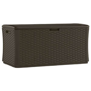 Suncast  Plastic  27 in. H x 28.5 in. D x 55 in. W Deck Box  Brown