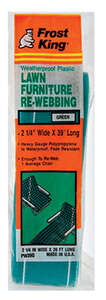 Frost King Lawn Chair Webbing 39 ft. Green and White
