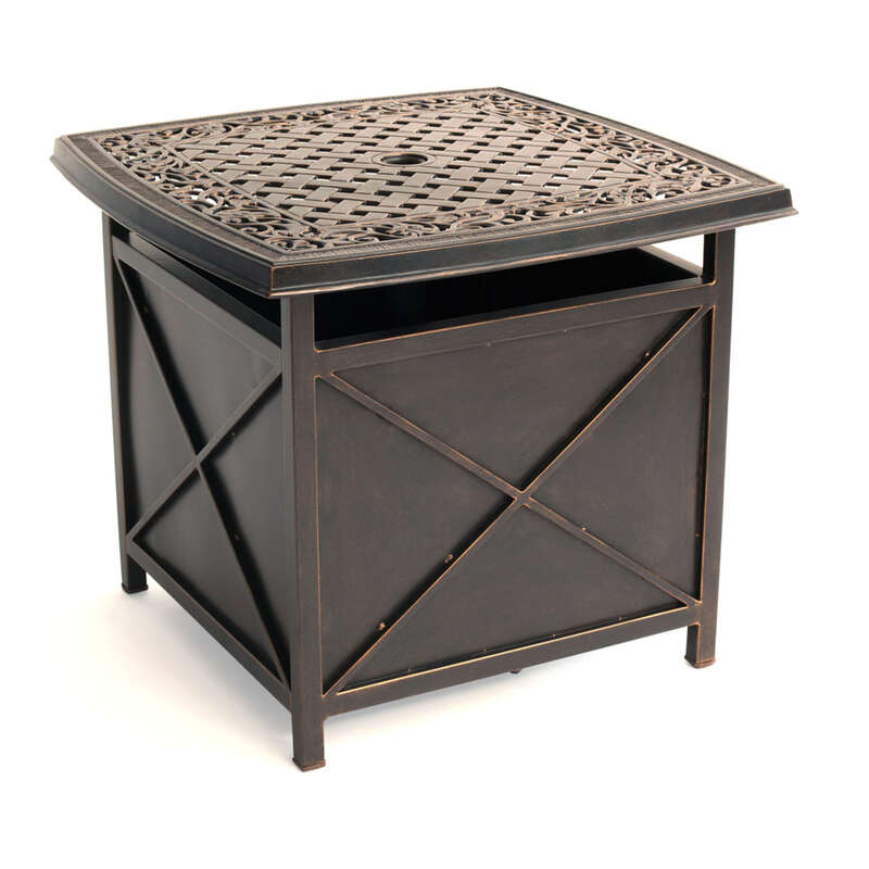 Hanover  Traditions  Square  Brown  Neutral  Side Table