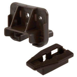 Prime-Line  1-3/16 in. L Plastic  Drawer Track Guide And Glide  1 pk