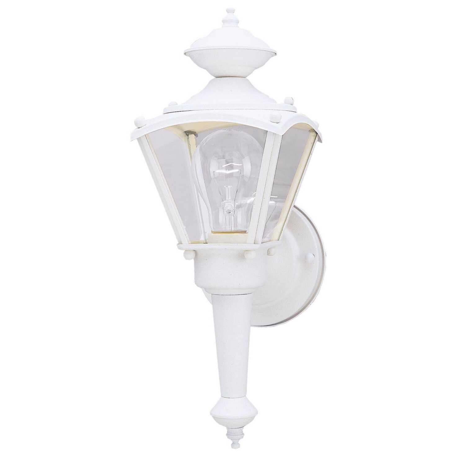 Westinghouse  Semi-Gloss  White  Incandescent  Wall Lantern
